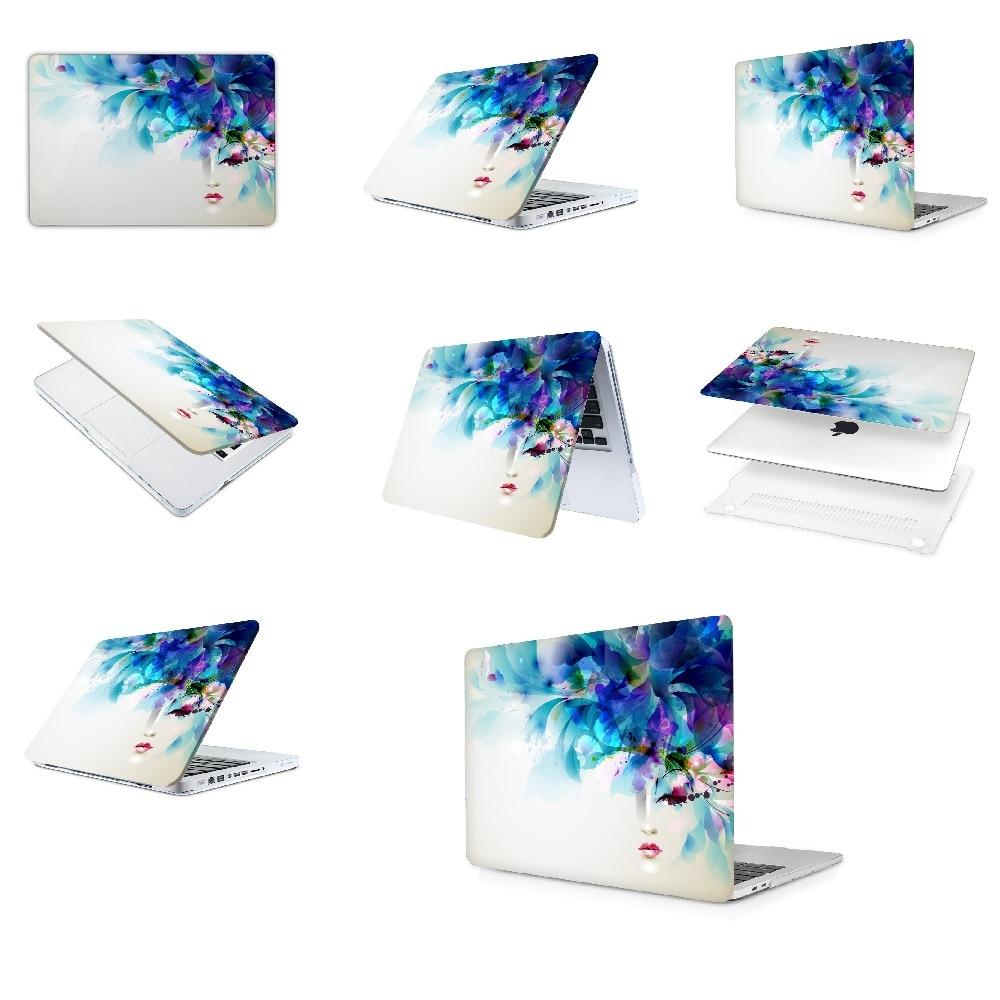 حافظة لوحة زيتية لجهاز Apple Macbook Air 11 13 Pro Retina 12 13 15 بوصة ، شريط ألوان ، غطاء كمبيوتر محمول خشبي