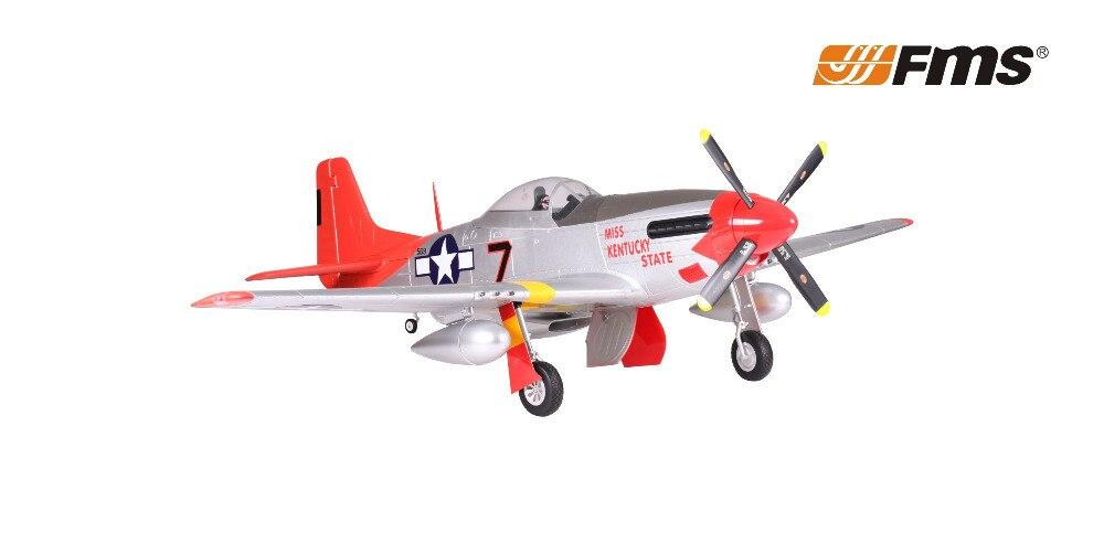 FMS 1700MM/1,7 M Gaint Warbird P51 / P-51 D Mustang cola roja PNP versión Gran Escala Radio Control RC modelo avión