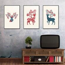 Animal Cartoon deer Frameless Unframed Spray Oil Painting Canvas print airbrush Scarf digital Realistic Waterproof picture