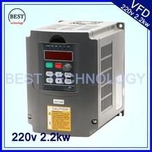 Motor de eje de CNC control de velocidad 220v 2.2kw VFD Unidad de frecuencia Variable VFD inversor 1HP o 3HP inversor de frecuencia de entrada 3HP