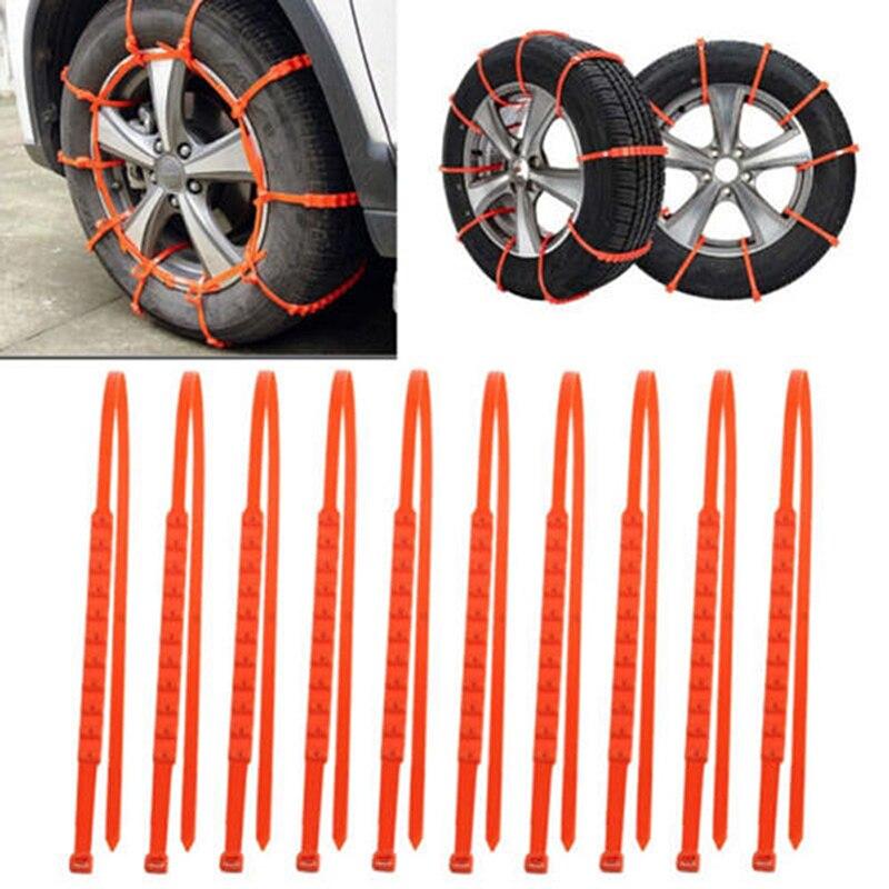 Carro universal mini náilon pneus de inverno rodas correntes de neve carro caminhão neve lama roda pneu cabo laços dropshippinp n27