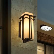 modern Chinese waterproof exterior wall terrace courtyard lamp  outdoor balcony corridor lamp
