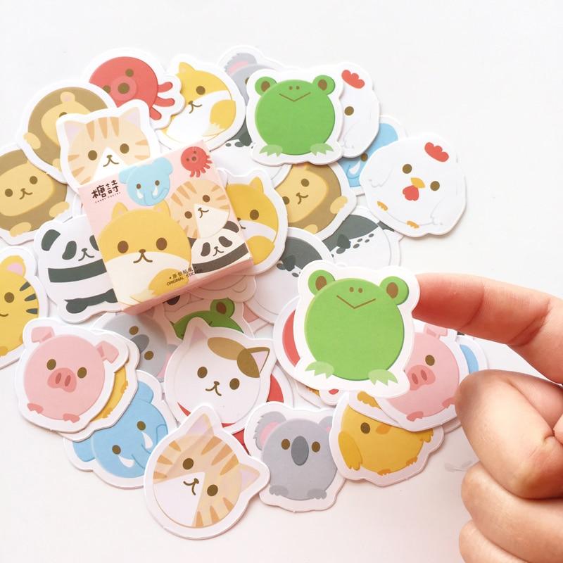 45 unids/pack cerdo Panda conejo DIY pegatinas decorativas teléfono sellado de botella etiqueta adhesiva E57