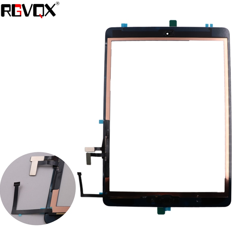 RLGVQDX Original Black/White For iPad5 Touch Screen Digitizer TP IC with Home Button Adhesive