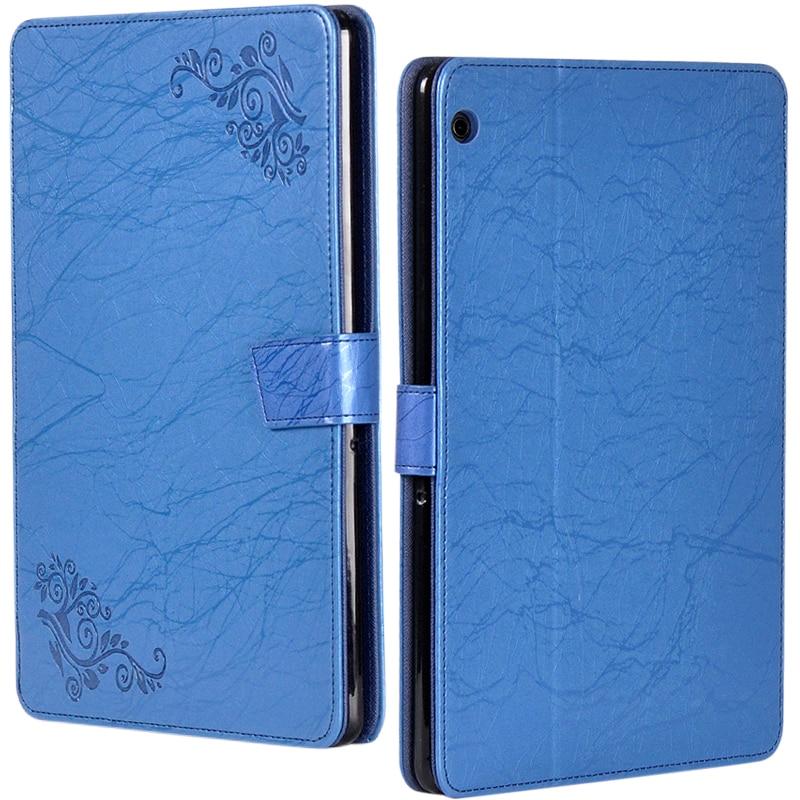 Impresión de flor PU Funda de cuero para Huawei Mediapad T5 10 AGS2-W09 AGS2-L09 AGS2-L03 AGS2-W19 10,1 pulgadas Tablet Stylus Pen
