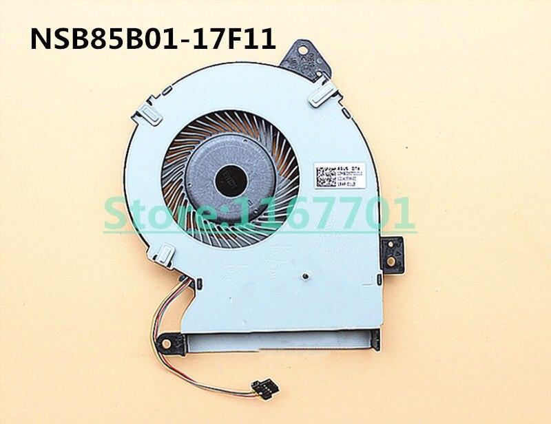 La computadora portátil/portátil ventilador de refrigeración de la CPU para Asus FL5700 FL5700UP F540 F540UP R540 R540UP X540SA X540U NSB85B01-17F11 DFS2004057S0T-FHM7