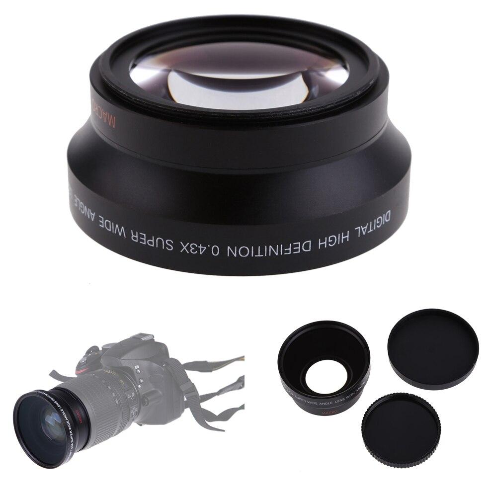 Lightdow 67mm 0.43X Groothoek Lens + Macro Lens voor Canon 18-135mm Lens voor Nikon 18 -105mm Lens