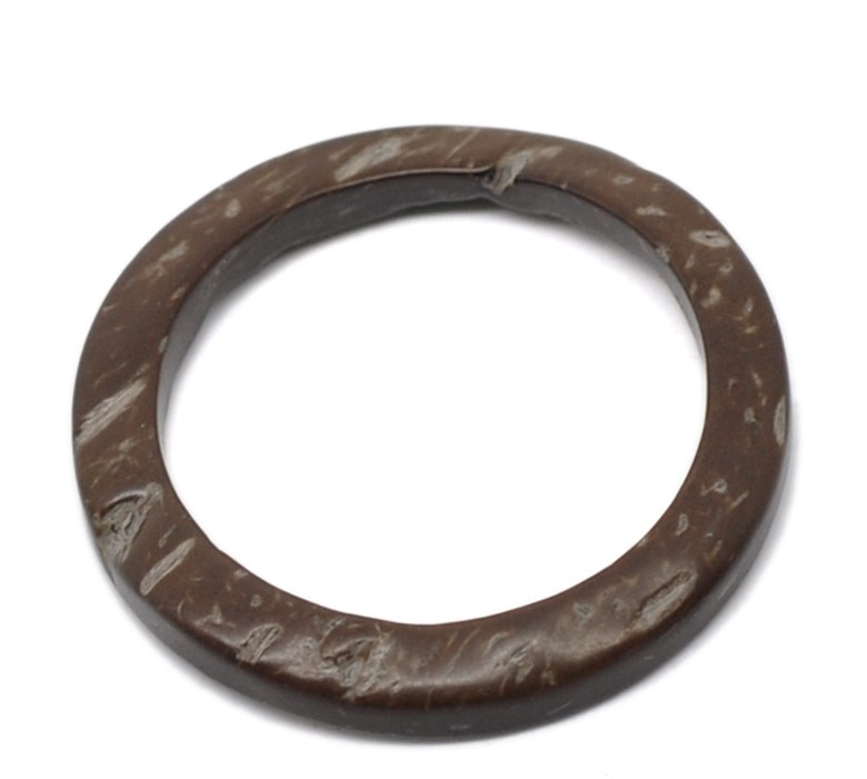 Doreen Box bonitos anillos cerrados de coco café de 4cm de diámetro, 20 piezas (B22716)