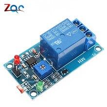 Panneau de capteur Photoswitch 5V 12V cc   Commutateur de capteur, Module relais de résistance à la lumière LDR détection de la lumière, capteur photosensible