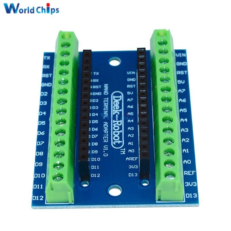 Placa adaptadora de Terminal estándar para Arduino Nano 3,0 V3.0 AVR ATMEGA328P módulo de expansión de módulo ATMEGA328P-AU