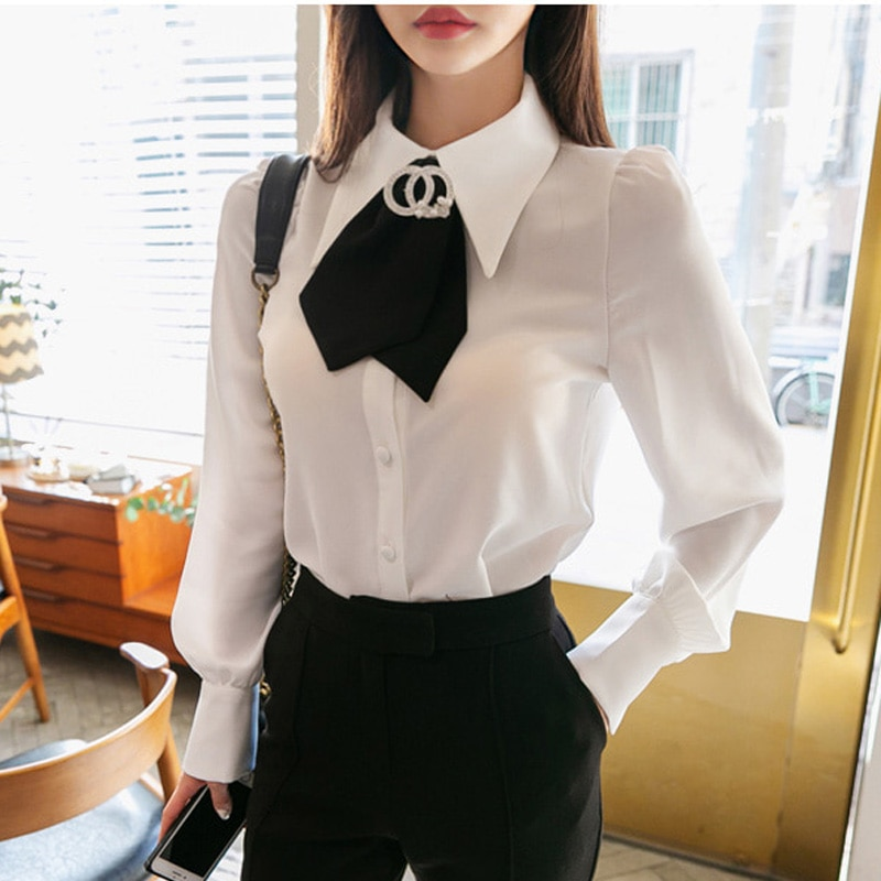 Shirts Women Simple Solid Single Breasted All-match Trendy Womens Leisure Korean Style Students Loose High Quality Chic Blouses
