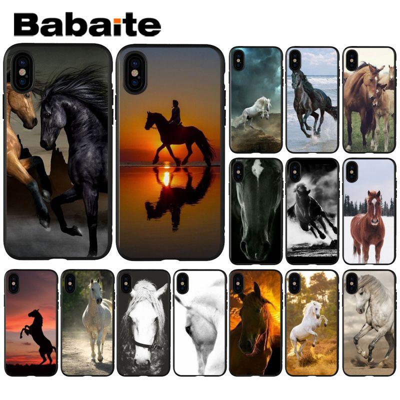 Babaite с принтом животного, лошади DIY Роскошный Высокий протектор на конце чехол для Apple iPhone 8 7 6 6S Plus X XS MAX 5 5S SE XR мобильные телефоны