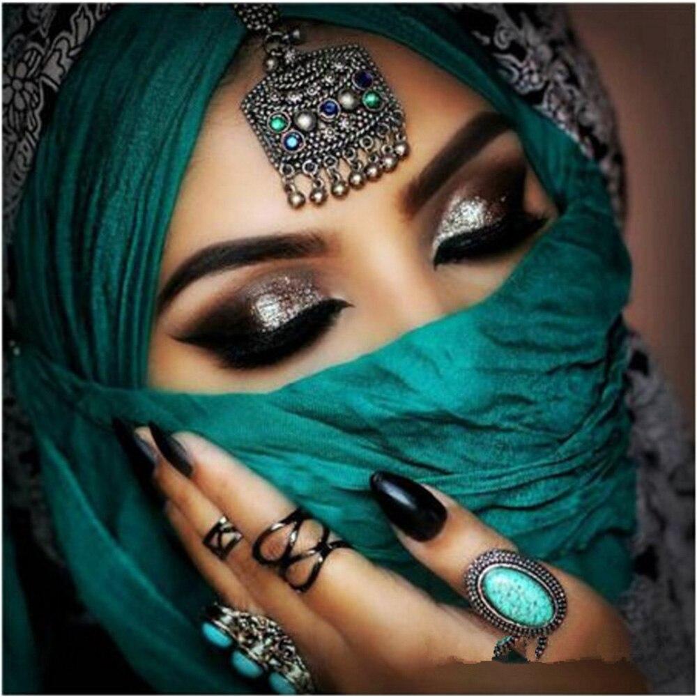 Индийская красота DIY 5D алмазная картина Индийская Девушка Алмазная вышивка Ближний Восток красота полная мозаичная живопись стразами алма...