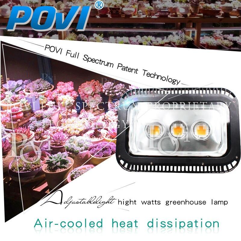 POVI progetto serra spettro completo principale coltiva la luce IP65 impermeabile illuminazione circuito integrato del led 150 w 500 w alta PPFD per serra