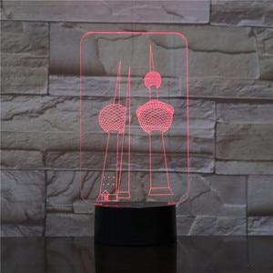 Две башни RGB 3D Ночник светильник USB светодиодный настольная лампа 7 цветов меняющая влюбленных милая девушка подарок Прямая поставка от двер...