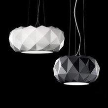 Verre pendentif éclairage Simple moderne lampes suspendues diamant coupe placage décoratif pendentif lumière pour restaurant