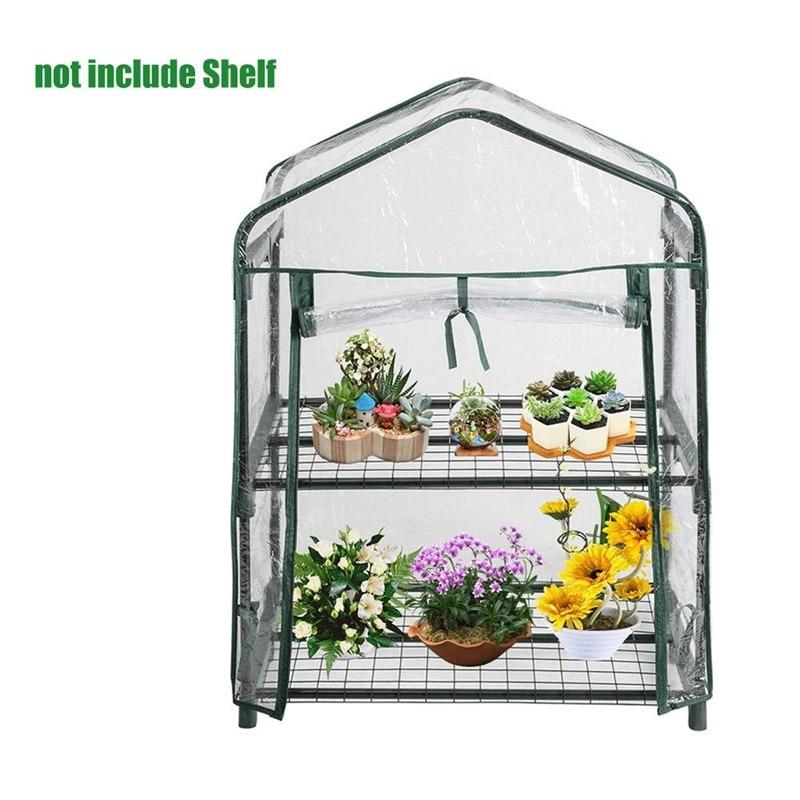 Mini Greenhouse Outdoor Grow Tent Grow Bag Grow House PVC Cover Plastic Garden Green House Windows Openeing for Farm Garden