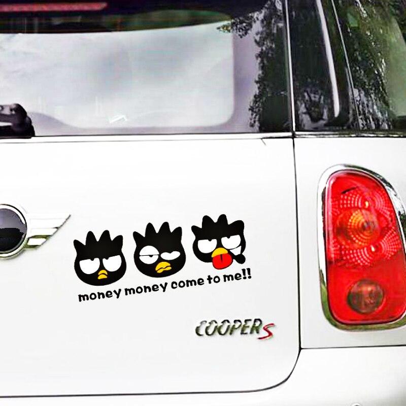 Acessórios Do Carro Dos Desenhos Animados do Pinguim Volkrays Dinheiro Venha Me Adesivo Decalque para a Motocicleta Chevrolet Toyota Renault Frigorífico Mini Audi