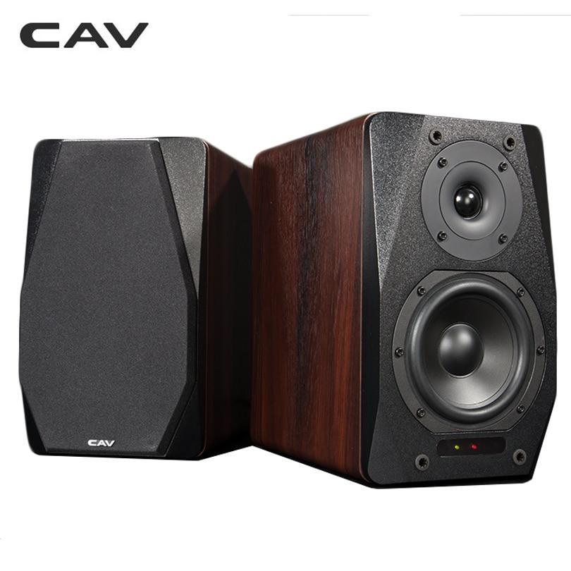 CAV FD-20 Bookshelf Speaker 2.0 Bluetooth Speaker SoundSystem Wood MusicSpeakers For Computer Co