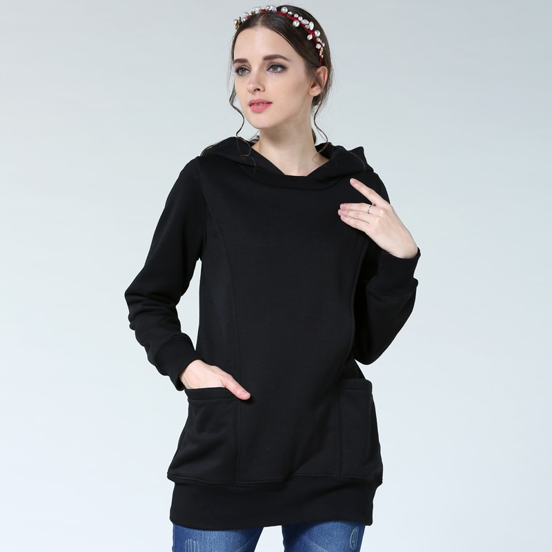 Emotion Moms Thickening Maternity clothes Breastfeeding Tops for Pregnant Women Pregnancy Clothing Maternity Hoodies Sweater enlarge