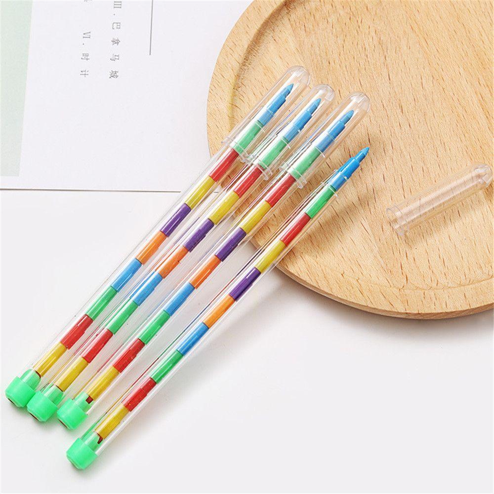 2 uds 10 colores DIY crayones reemplazables óleo Pastel creativo lápiz de colores Graffiti pluma para niños pintura dibujo lindo papelería