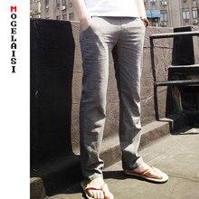 2019 pantalon en lin hommes pantalon en coton lin complet gamme de taille 70-112 cm cordon pantalon solide hommes pantalon en lin taille asiatique M-3XL
