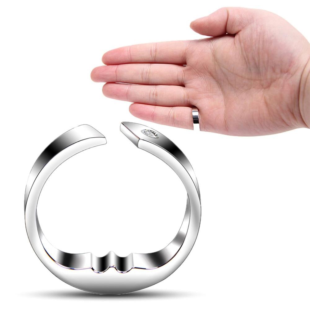 1 anillo antironquidos de acero de titanio para la acupresión Apnea para dormir ayuda para dejar de roncar contra el insomnio gai para hombres y mujeres