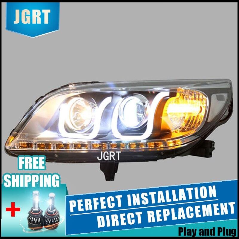 2 pces faróis led para chevrole malibu 11-14 luzes led carro duplo xenon lente acessórios do carro luzes diurnas luz de nevoeiro