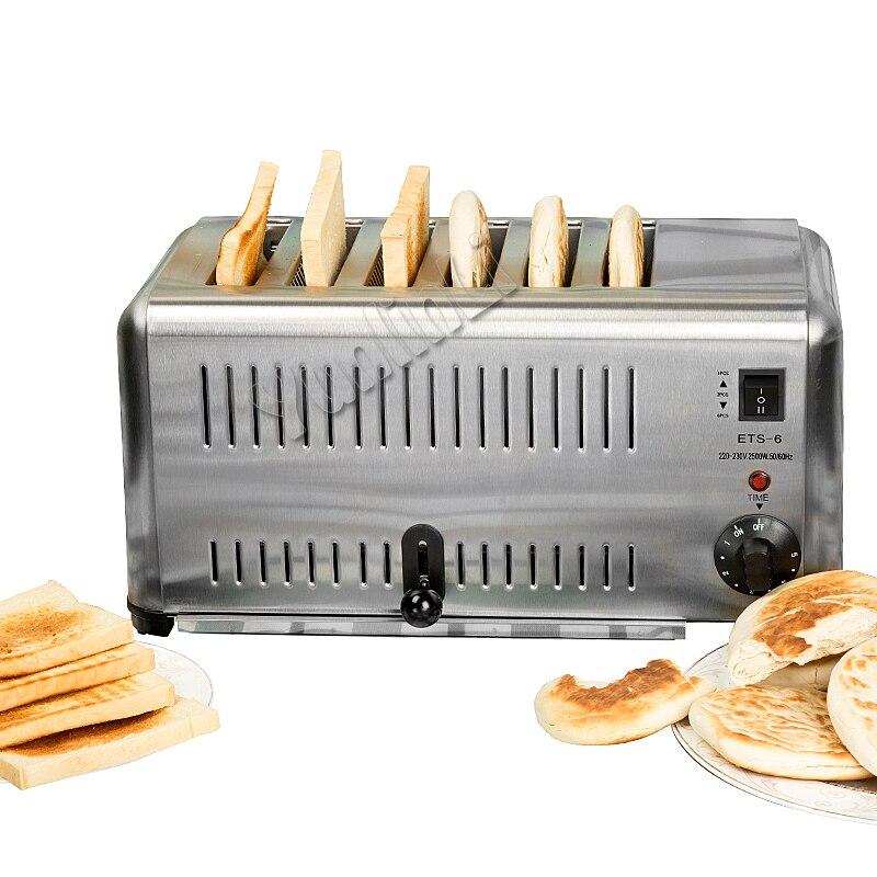 Commercial Toaster Household Breakfast Helper Breakfast Assistant Household Toaster Full Stainles Steel Toast Oven ETS-6