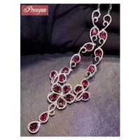 natural ruby pendant necklaces for women 3x4mm 925 sterling silver genuine gemstone necklaces party classic fine jewelry 179