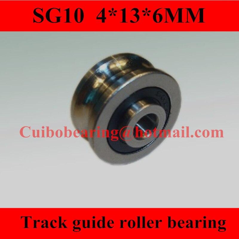 100 قطعة SG10 U بكرة أخدود عجلة الكرات ل مسامير الربط 4*13*6 ملليمتر المسار دليل الأسطوانة تحمل (صف مزدوج كرات)