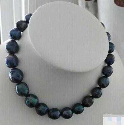 Palabra de regalo de boda eterna para mujeres 925 Sterling real 925 real natural big DYY + + 816 precioso barroco tahitian negro g