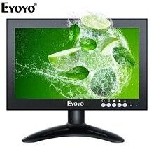 Eyoyo EM08G 8 inch Small HDMI LCD Monitor Portable 1280x720 169 IPS Metal Housing Screen Support HDMI/VGA/AV/BNC Input for CCTV