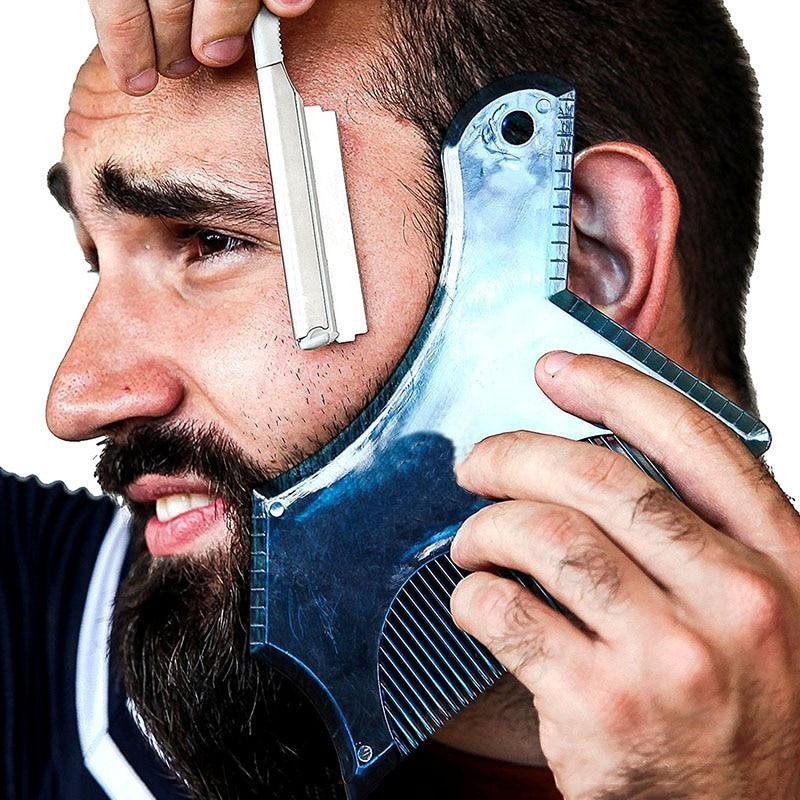Профессиональный инструмент для формирования бороды, трафарет для бороды, направляющий шаблон, гребень для мужчин, стильный легкий инструмент для наращивания волос