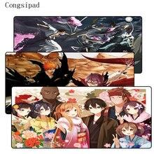 Congsipad Japanese Anime Design Bleach Large Lock Edge Rubber Mouse Mat Pad Size 30x60 /30x70 /30x80/ 30x90/40x90cm For CSGO LOL