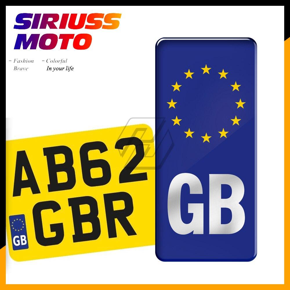Etiqueta engomada de la insignia del Euro de GB de la motocicleta para el caso de la etiqueta Legal de Europa del vinilo de la matrícula para Ducati Aprilia KTM Honda MV PIAGGIO