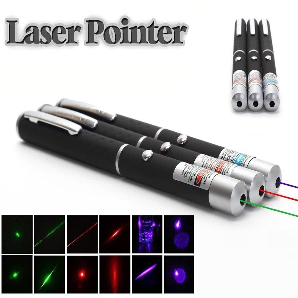 Laser Pointer Rot/blau/grün Violett Laser Stift Lehr Presenter Strahl Licht High Power Jagd Lazer Bohrung Anblick gerät Freies Schiff