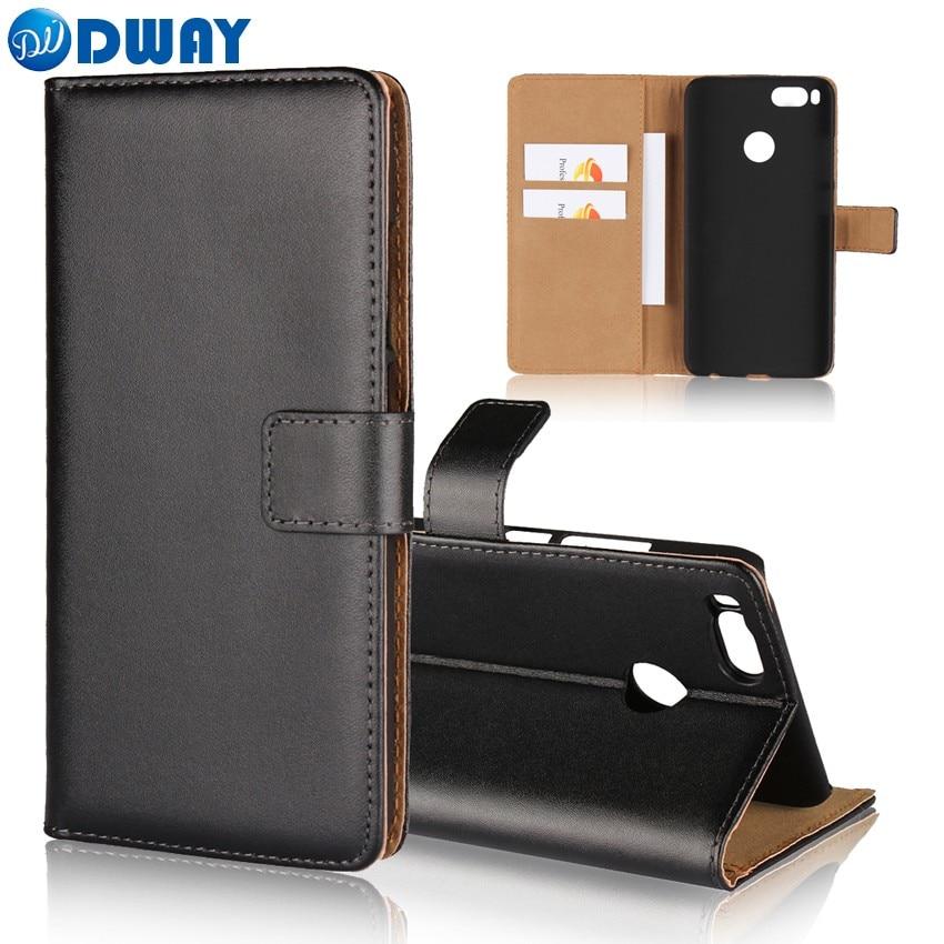 Funda tipo billetera de cuero genuino para Xiaomi mi A1 libro con tapa funda de teléfono para Xiaomi mi 5X cuero de segunda calidad de lujo