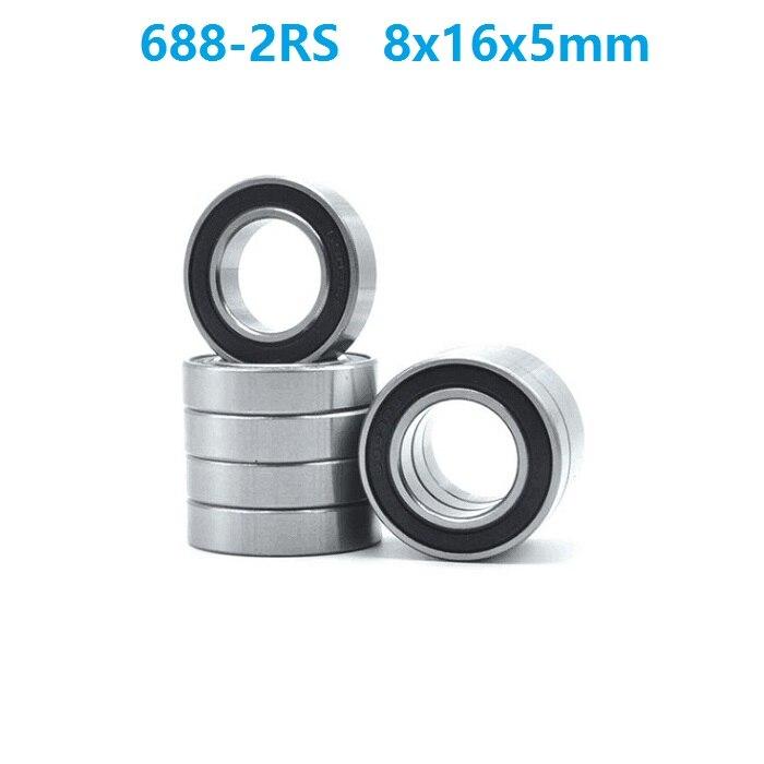 500 قطعة/الوحدة 688RS 688-2RS 688 RS 2RS الكرة تحمل 8x16x5mm كرات تروس الحمل عميقة الاخدود مصغرة مصغرة تحمل 8*16*5