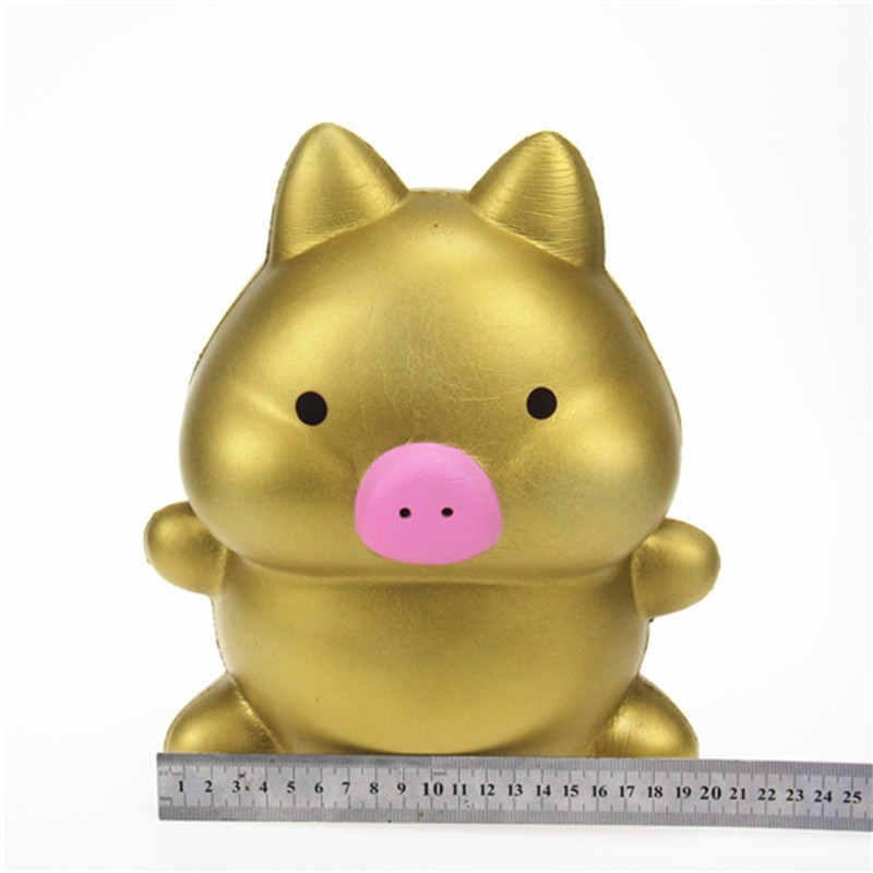 2019 new decompression toy oversized cartoon pig PU simulation fruit animal model slow rebound toy Squishy factory wholesale enlarge