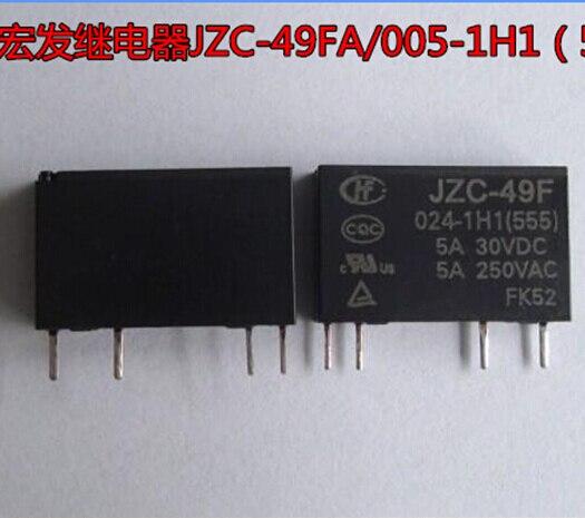 HOT NEW JZC-49FA-024-1H1 JZC-49FA 024-1H1 024-1H1-24VDC 24 V 5A 24VDC relé DIP4