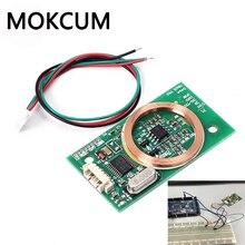 Lector de RFID módulo inalámbrico UART 3Pin 125KHz lector de tarjetas EM4100 8CM DC 5V para tarjeta IC PCB Attenna Sensor Kits para Arduino