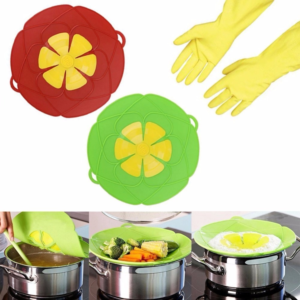 De silicona de tapa de tope para derrames cubierta y hervir guardia de seguridad derrame tapones Accesorios de herramientas de cocina para prevenir hervir Silicona