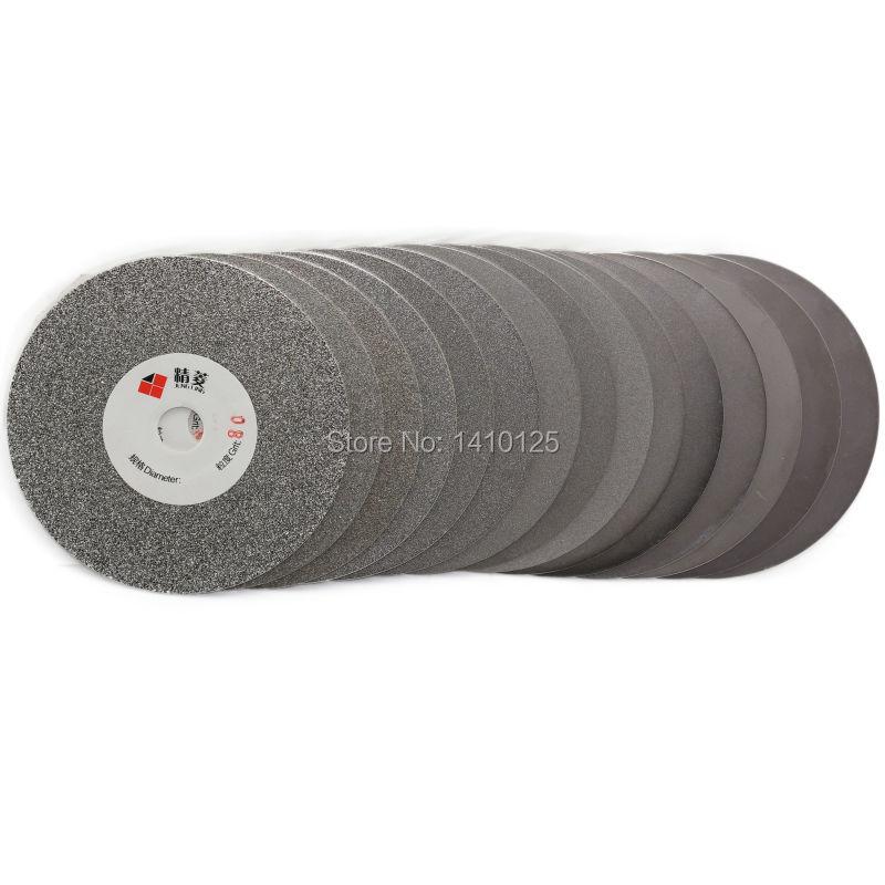 Disco abrasivo de diamante galvanizado 80-3000 de 4 pulgadas con revestimiento de rueda de disco plano herramientas de lapidario para piedras preciosas joyas de vidrio