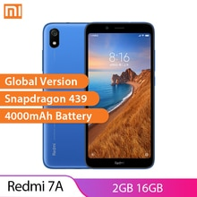 "Küresel sürüm Xiaomi Redmi 7A 2GB 16GB Smartphone Snapdragon 439 4000mAh pil 5.45 ""189 13MP kamera octa çekirdek cep telefonu"