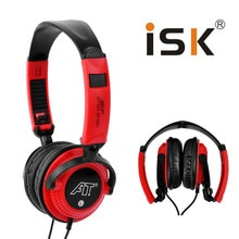 Hot ISK AT-1000 Headphones Professional Monitoring Headphone HD music headset 3.5mm Jackplug Computer Studio Recording Earphone