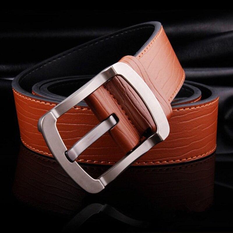 2019 cinturones para hombres adolescentes cinturón de Color puro PU cinturón de jeans de hombre 110cm