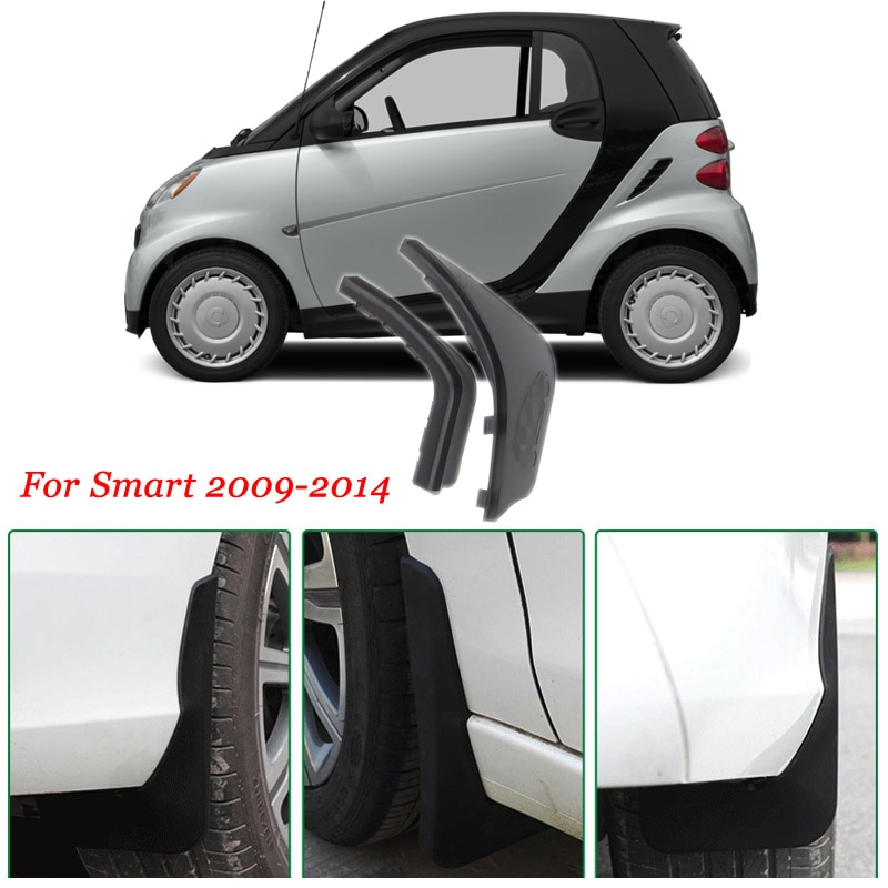 4pcs Premium Heavy Duty Molded Splash Mud Flaps Guards Fenders For Benz Smart 2009-2014