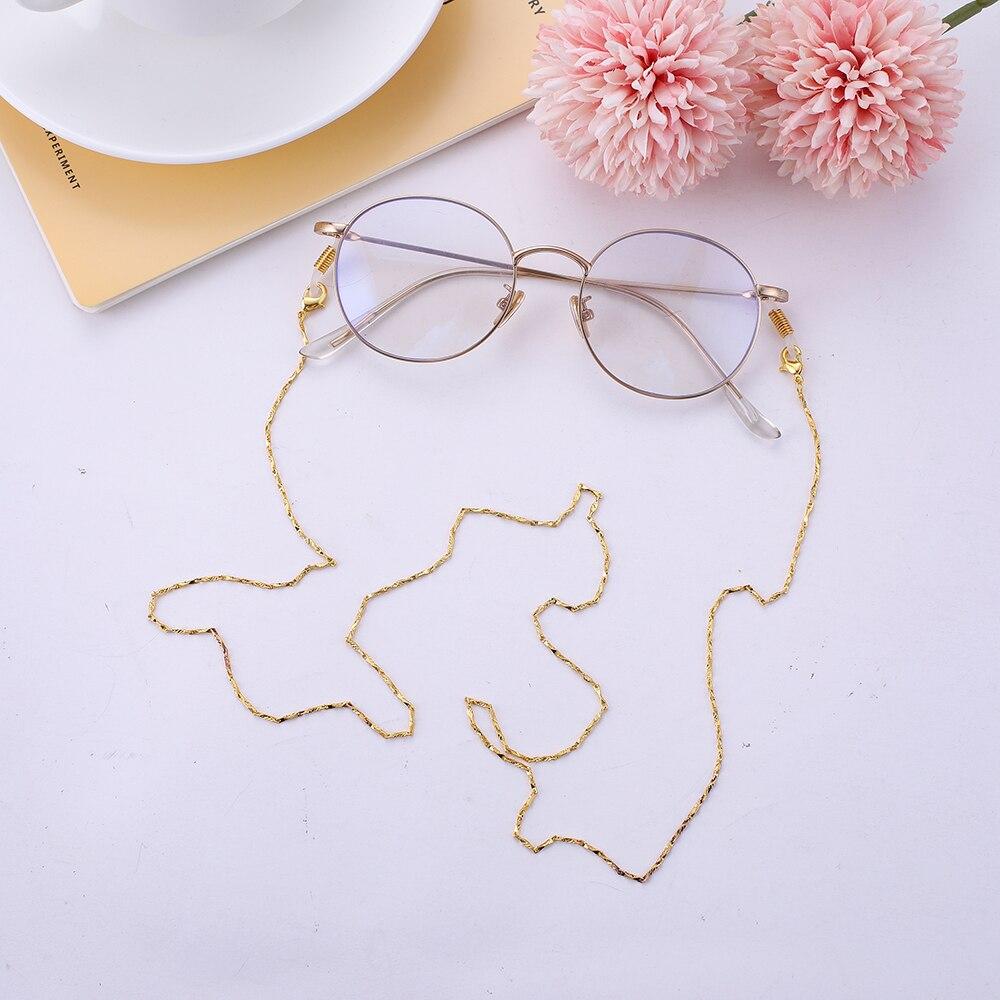 Teamer 78 Simple Fashion Rhombus Metal Glasses Chain Glasses Holder Women Men Eyewear Straps Sunglasses Landyard Eye Accessories