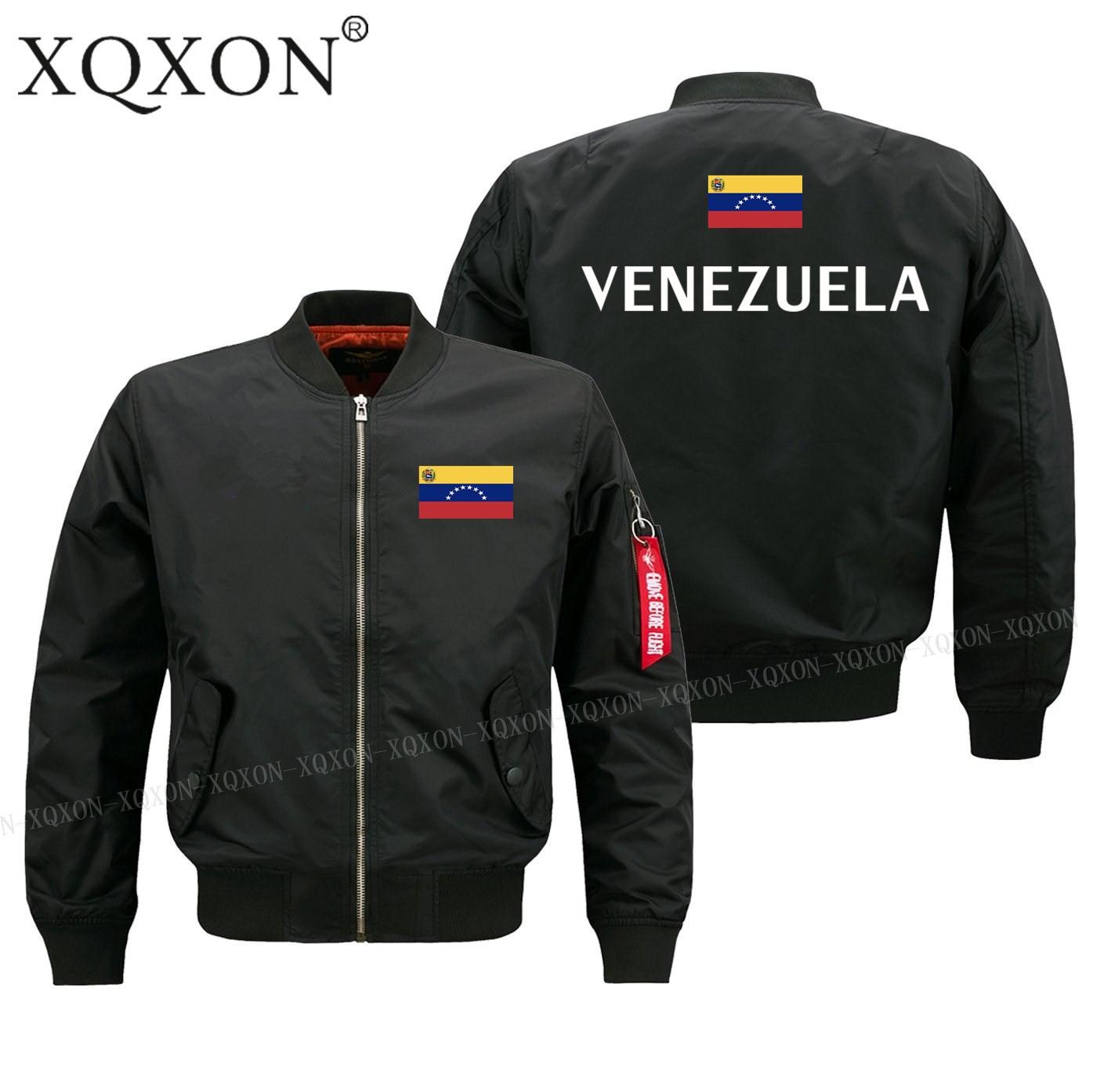 Бомбер мужской в стиле милитари с флагом Венесуэлы, J194